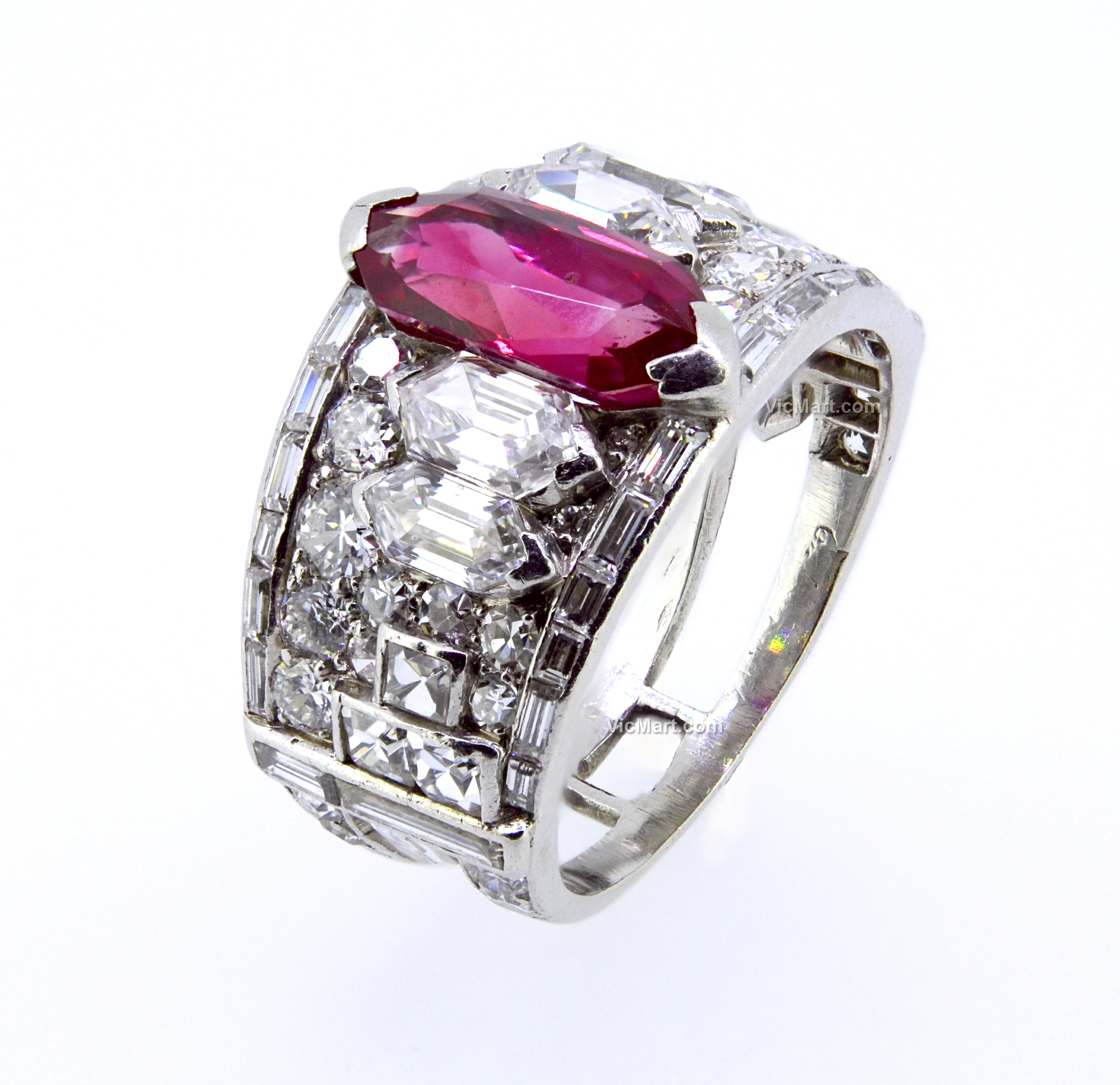 CARTIER Art Deco Ruby and Diamond Ring c 1925 in > Art ...