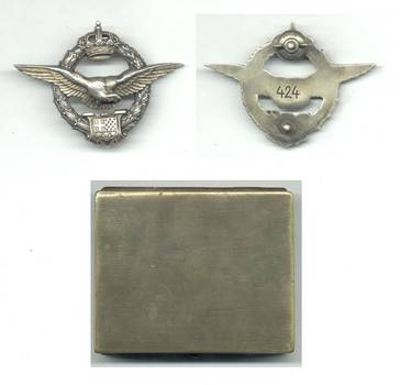 1921 Serbia Royal PILOT badge wings 1st ISSUE