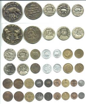 Lucky token coin PIG 21 coins collection RARE