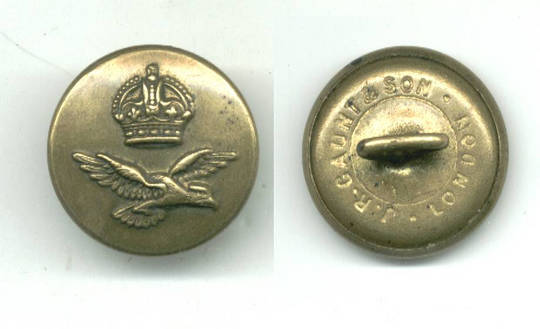 WWI Serbia Royal Pilot uniform eagle button R