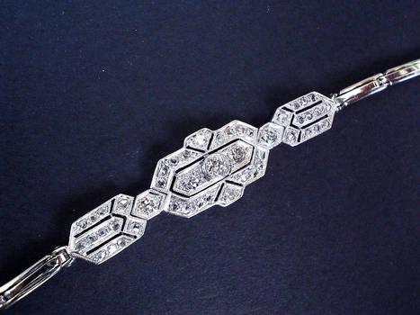 CARTIER Art Deco diamond bracelet by Boucher