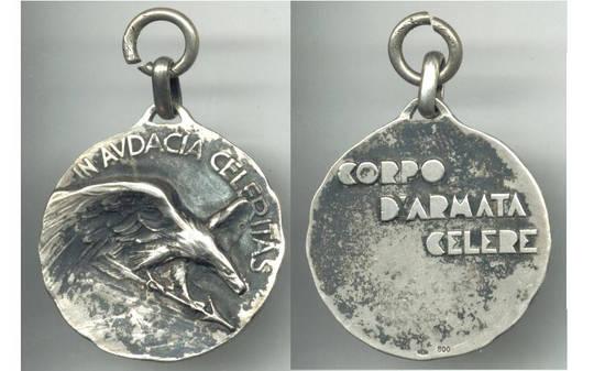 WWII NAZI Italy RSI CORPO CELERE eagle medal