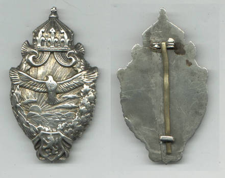 WWI Bulgaria Royal SILVER pilot badge gilt RR