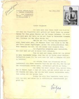 WWII NAZI Germany Ace LUTZOW autograph doc 2