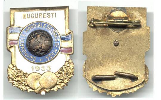 1953 Romania Table Tennis World Champ badge R