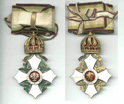 1891 Bulgaria Royal C. Merit Order 2C Prince