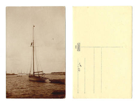 Vintage NAVY marine yacht photo postcard NICE