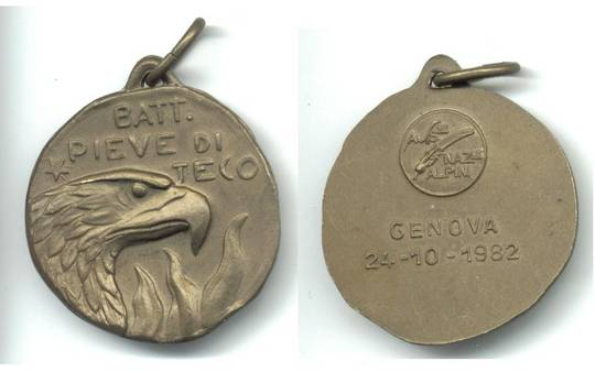 1982 Italy PIEVE DI TECO medal scout ? NICE