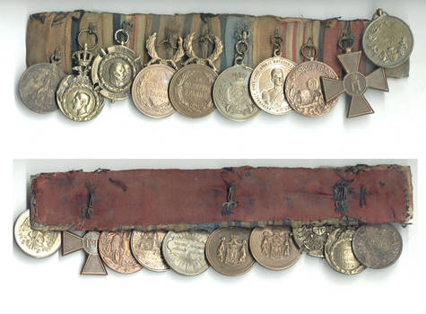 WWI Serbia Royal 10 medals soldier group bar
