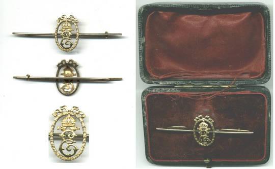 1916 Bulgaria Royal GOLD tie badge pin award