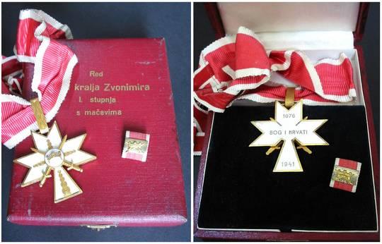 WWII NAZI Croatia ZVONIMIR order 1C swords RR