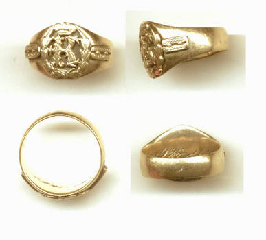 1933 Bulgaria Royal Queen Army GOLD ring RARE