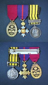 British gold miniature order medal group WITU