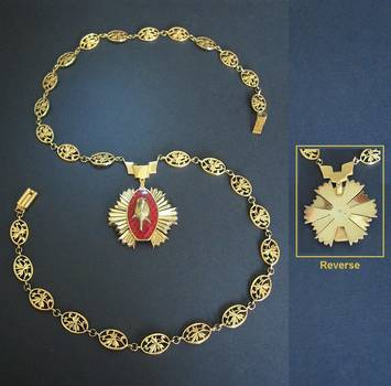 c1980 Bulgaria Order of the Rose GOLD COLLAR