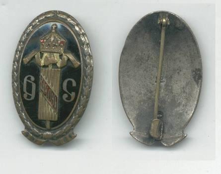 1905 Bulgaria Royal Attorney badge marked RRR