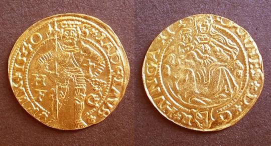 1540 Hungary Zapolya Hermannstadt gold ducat