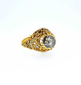 c1830 Georgian Diamond Encrusted Flower Ring