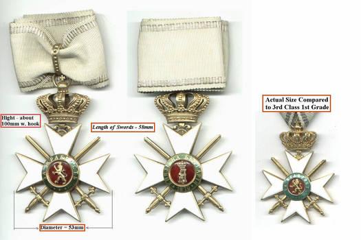 1902 Bulgaria Royal BRAVERY 1C Order cross RR