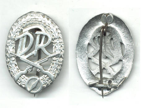 1970 Germany DDR Shooting rifle Club badge RR