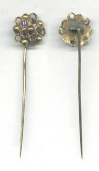 Vintage gold silver amethyst pin broche NICE