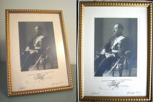 Bulgaria King Boris signed photo portrait RRR