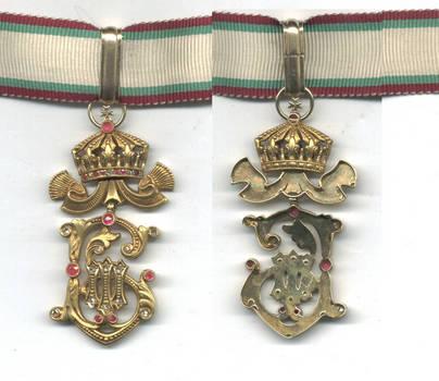 1918 Bulgaria Royal GOLD DIAMOND badge award