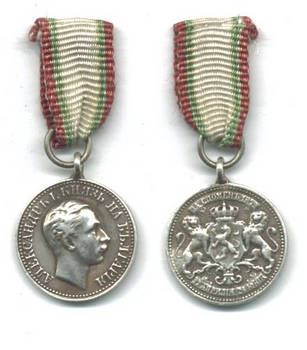 1878 Bulgaria Batenberg Ascension medal mini