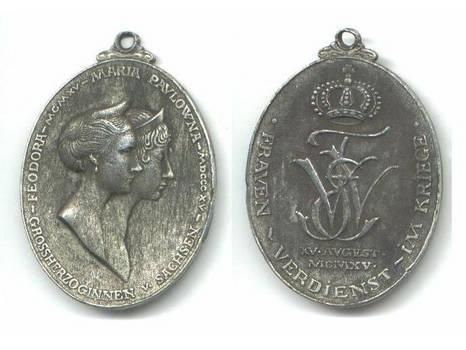 WWI Germany Saxony LADY Mil. Merit medal RARE