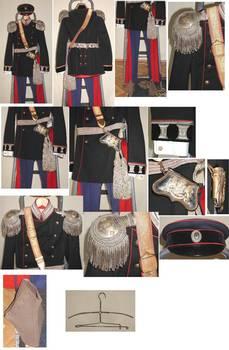 1908 Bulgaria Royal Colonel uniform set FULL