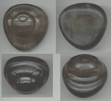 Ancient 10AD Eskimo art TOPAZ sea lion head !