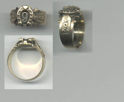 Bulgaria Royal GOLD 9th cavalry award RING RR