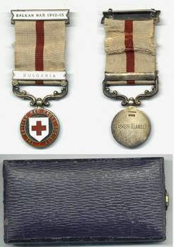 1913 British Red Cross BULGARIA clasp medal R