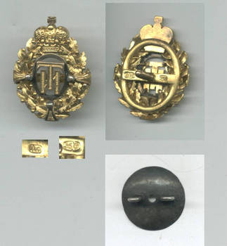 1863 Russia Royal St. Peter Tech GOLD badge !
