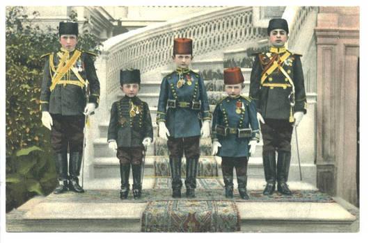 1912 Turkey Sultan King sons photo postcard R