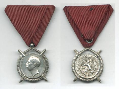 WWII Bulgaria Royal Merit SILVER order RR N5