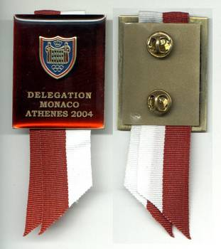 2004 MONACO NOC delegation Olympic badge pin