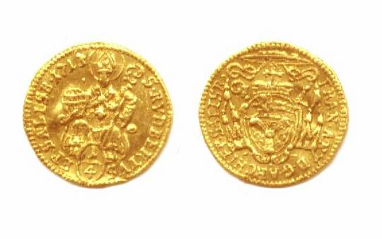 1713 Austria SALZBURG 1/4 ducat gold coin RRR