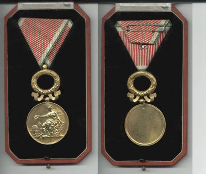 WWII Royal Bulgaria Art Science gold medal Rg