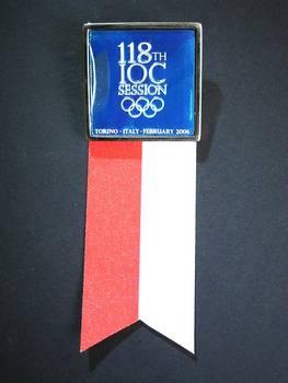 2006 Torino 18th IOC Olympic Session badge RR
