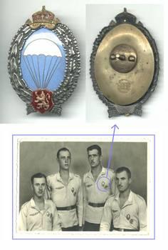 1942 Bulgaria NAZI PARACHUTIST Airborne badge