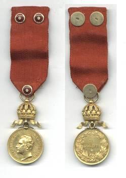 1886 Bulgaria Royal Merit GOLD medal diamonds