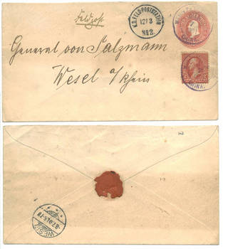 1901 US PO China Boxer Rebellion cover stamp