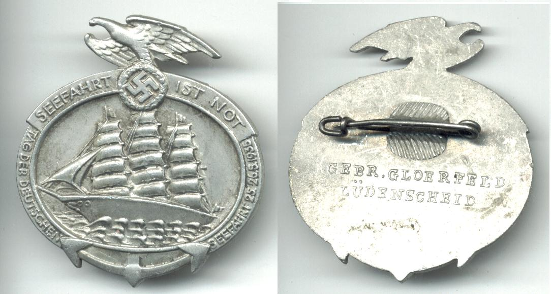 Recently Sold Items Listing 1935 NAZI Germany NAVY Marine ship badge