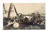 WWI Germany Italy airplane crash postcard RRR