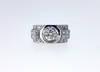 1920 Art Deco Diamond Solitaire Platinum Ring