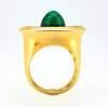 1930 Art Deco Henri Picq Emerald Diamond Ring