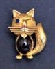 KUTCHINSKY Garnet Sapphire CAT brooch Vintage