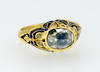 Antique Georgian Rose Cut Diamond Enamel Ring