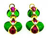 Vintage Legnazzi Gold Colored Stone Earrings