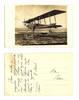 1925 Bulgaria Seaplane hydroplane postcard RR